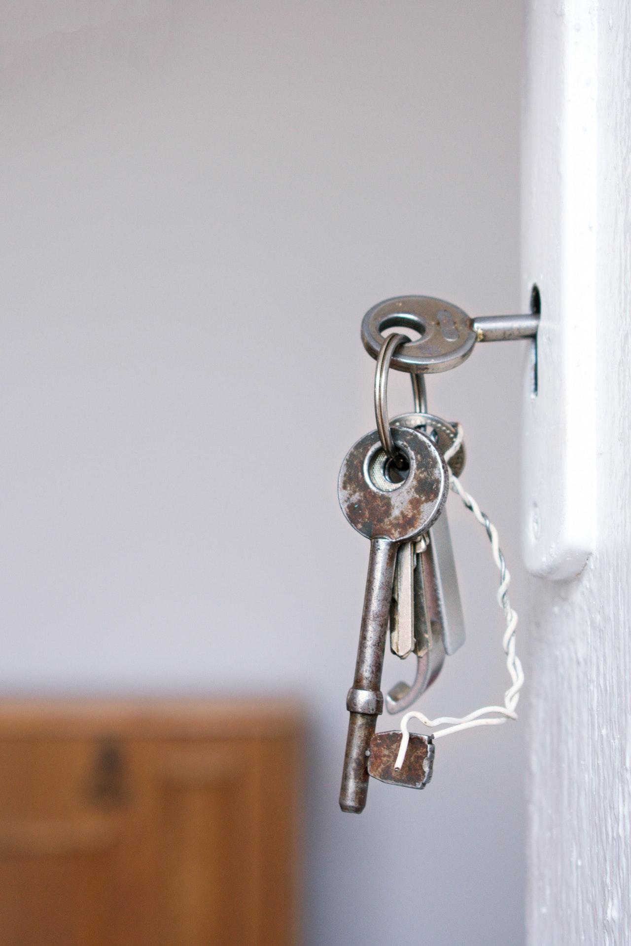 sleutels in het slot