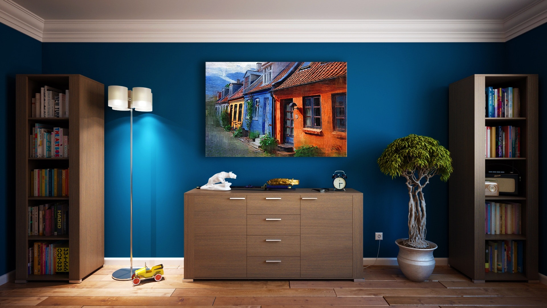 room-blue-and-wood